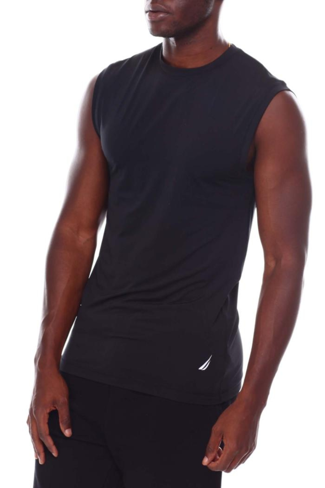 Nautica Men's Base Layer Muscle Tops - Front Cropped Image