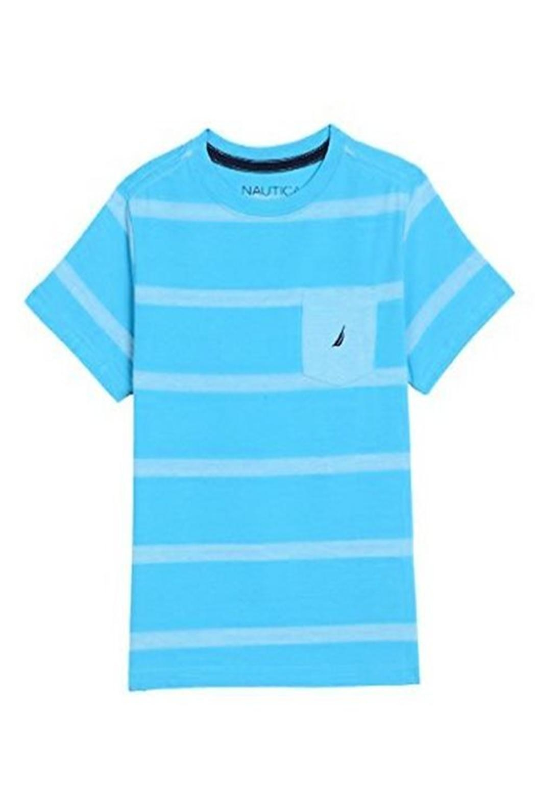 Nautica Striped Pocket Tee - Front Cropped Image