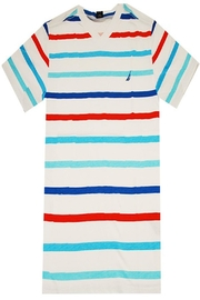 Nautica Striped V-Neck Tee - Front cropped