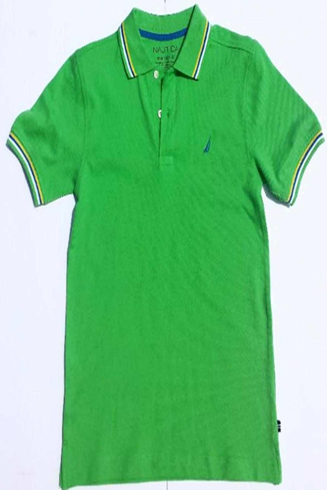 Nautica Tipped Collar Polo - Front Cropped Image