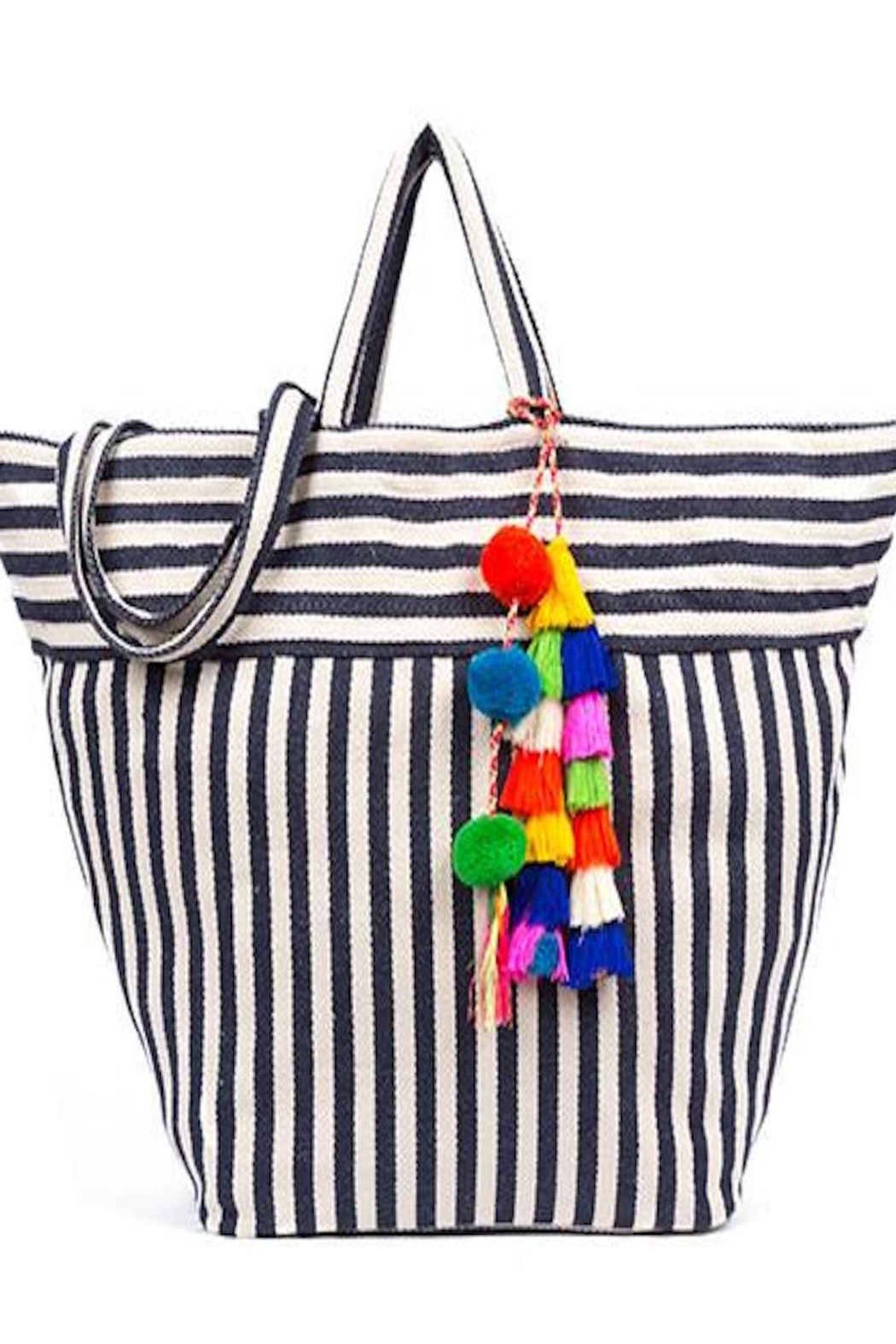 Jadetribe Nautical Beach Tote - Front Cropped Image