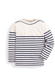 JoJo Maman Bebe Nautical Breton Top - Front cropped