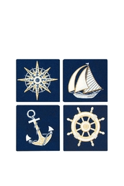 Rightside Design Nautical Coasters Setof4 - Product Mini Image