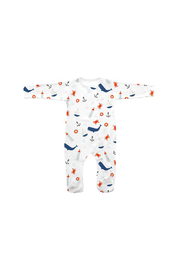 SAMMY & NAT Nautical Footie Romper - Front cropped