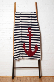 In2Green Nautical French Stripe Throw Blanket - Product Mini Image