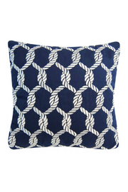 RIGHT SIDE DESIGN Nautical Knots Rope Pattern Pillow - Outdoor Sunbrella - Product Mini Image