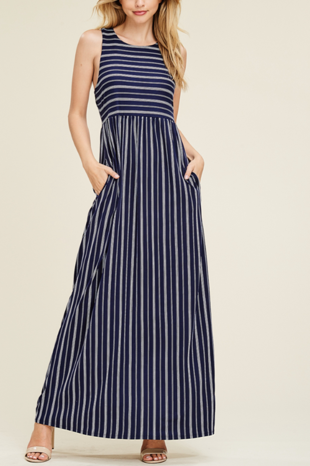 White Birch  Nautical Maxi - Front Cropped Image