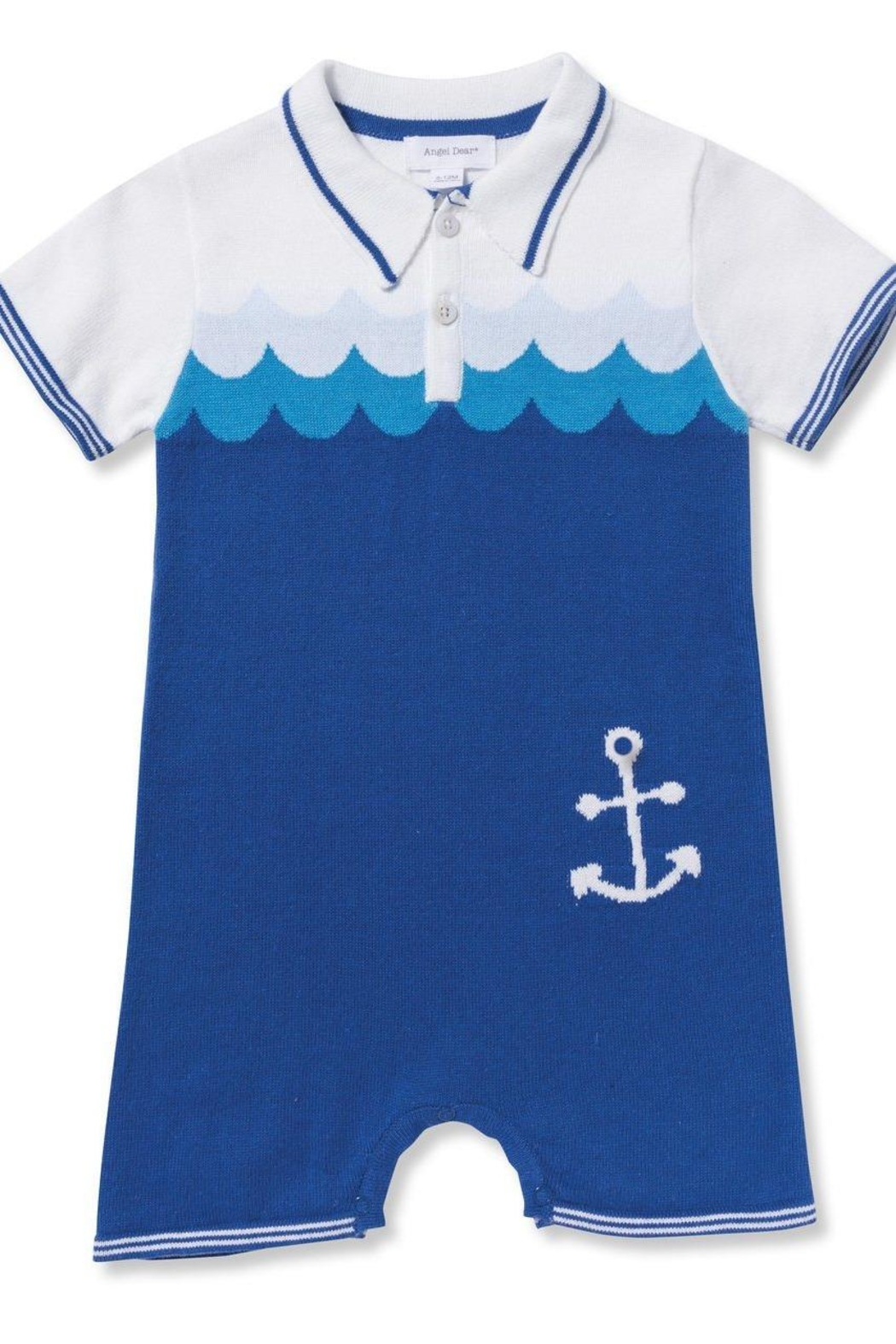 Angel Dear Nautical Polo Shortie - Front Cropped Image