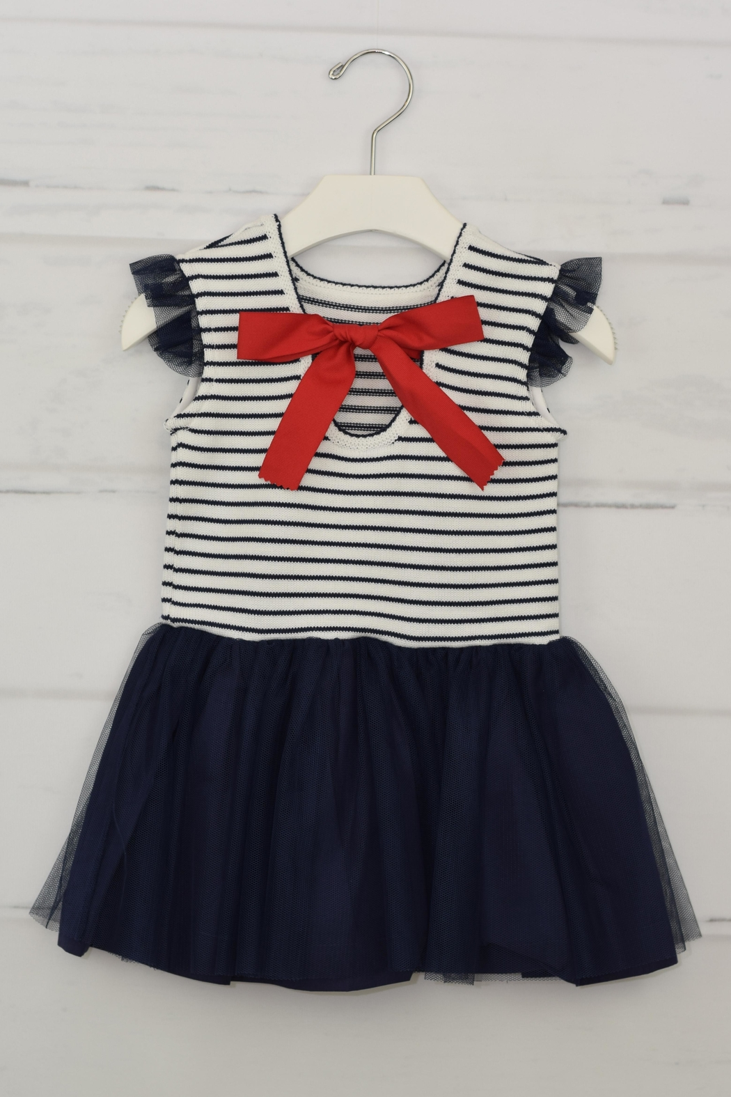 Granlei 1980 Nautical Stipes Dress - Front Full Image