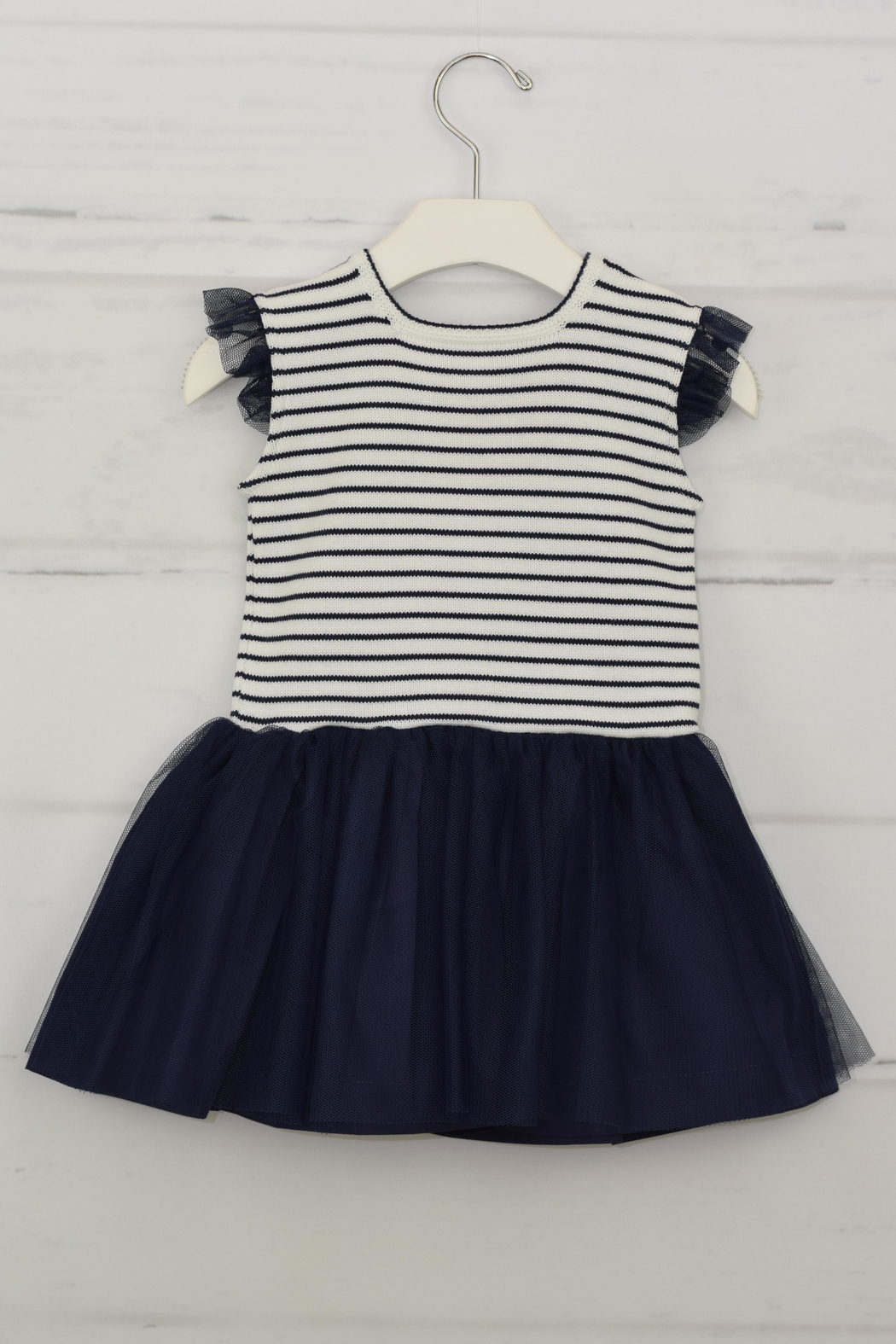 Granlei 1980 Nautical Stipes Dress - Front Cropped Image