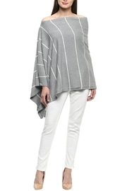 Darzzi Nautical Stripe Poncho - Front cropped