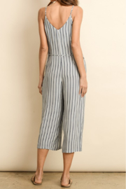 Dress Forum  Nautical Striped Button Down Jumpsuit - Front full body