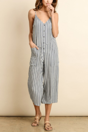 Dress Forum  Nautical Striped Button Down Jumpsuit - Product Mini Image
