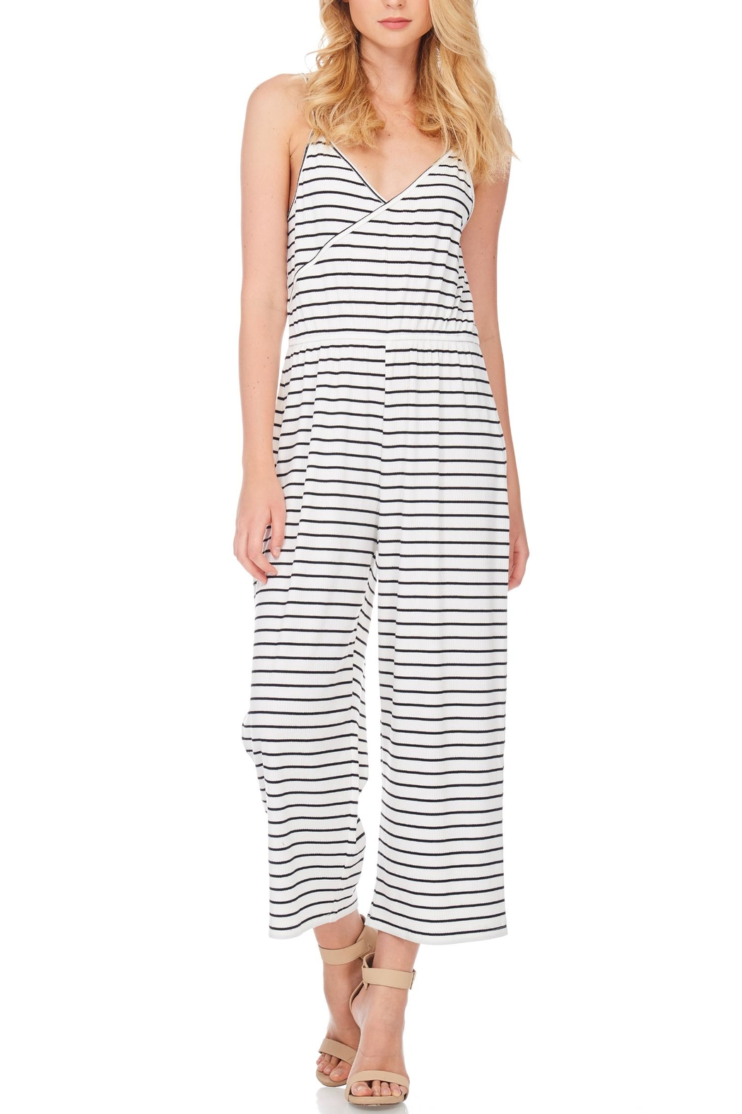 Anama Nautical Striped Jumpsuit - Front Full Image