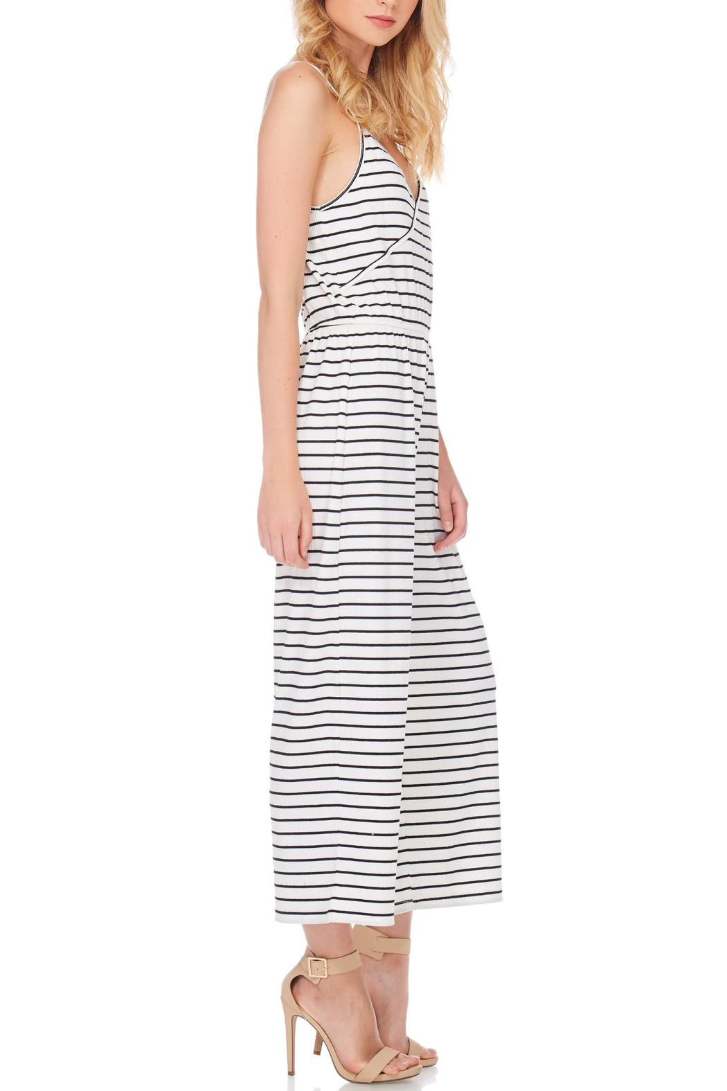 Anama Nautical Striped Jumpsuit - Front Cropped Image