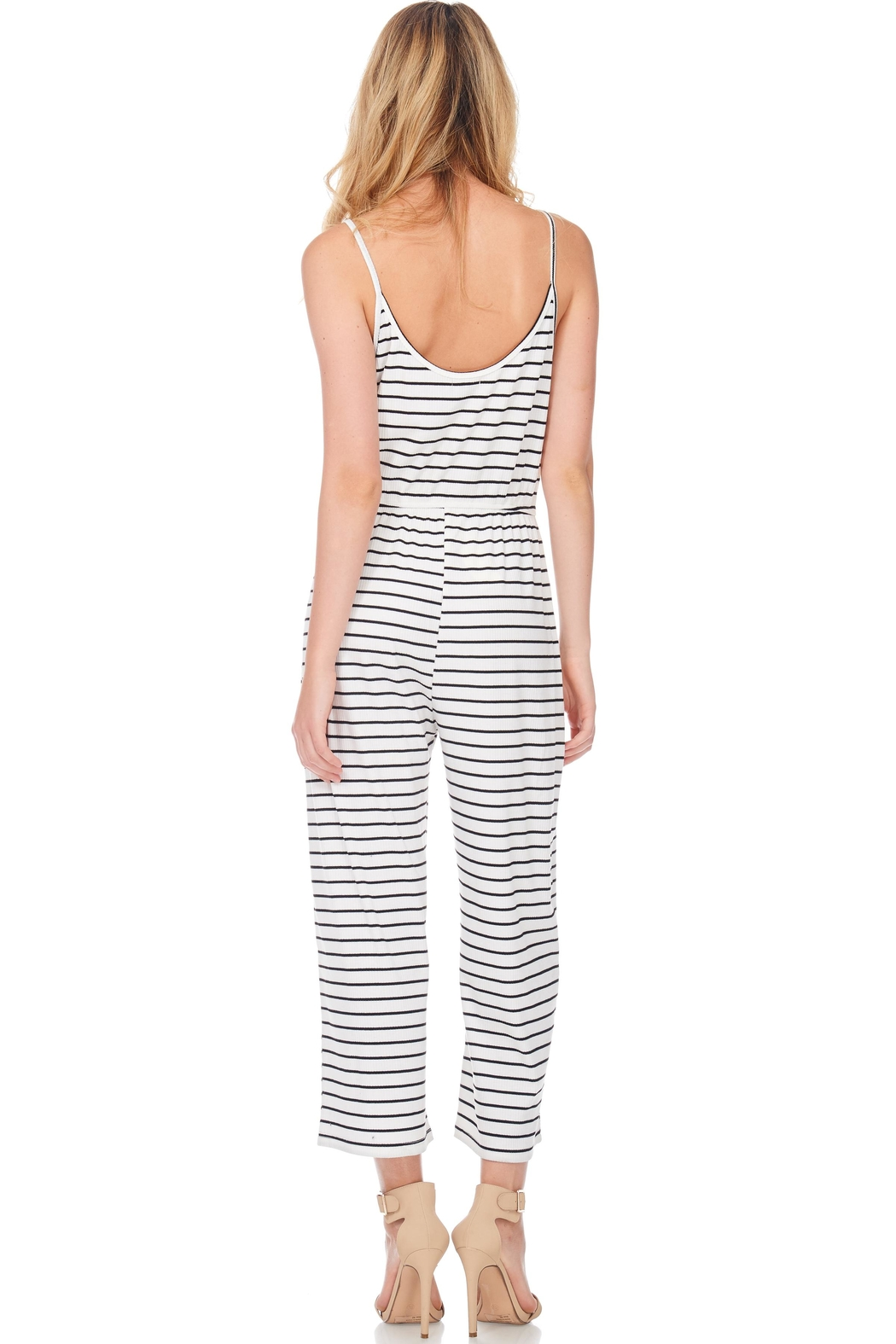 Anama Nautical Striped Jumpsuit - Side Cropped Image