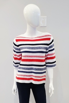 Marble Nautical Striped Sweater - Product List Image