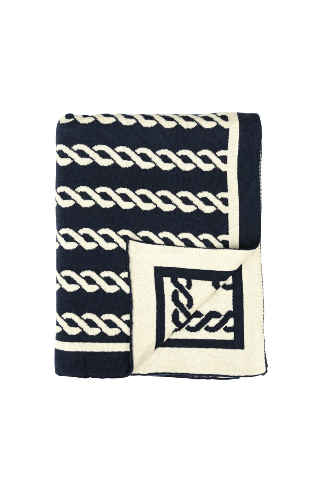 Darzzi Nautico Rope Knitted Throw - Front Cropped Image