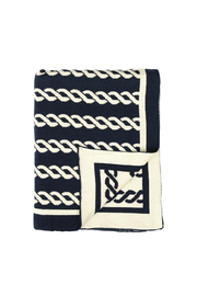 Darzzi Nautico Rope Knitted Throw - Front cropped
