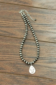 JChronicles Navajo-Pearl Cross-Charm Necklace - Product List Image