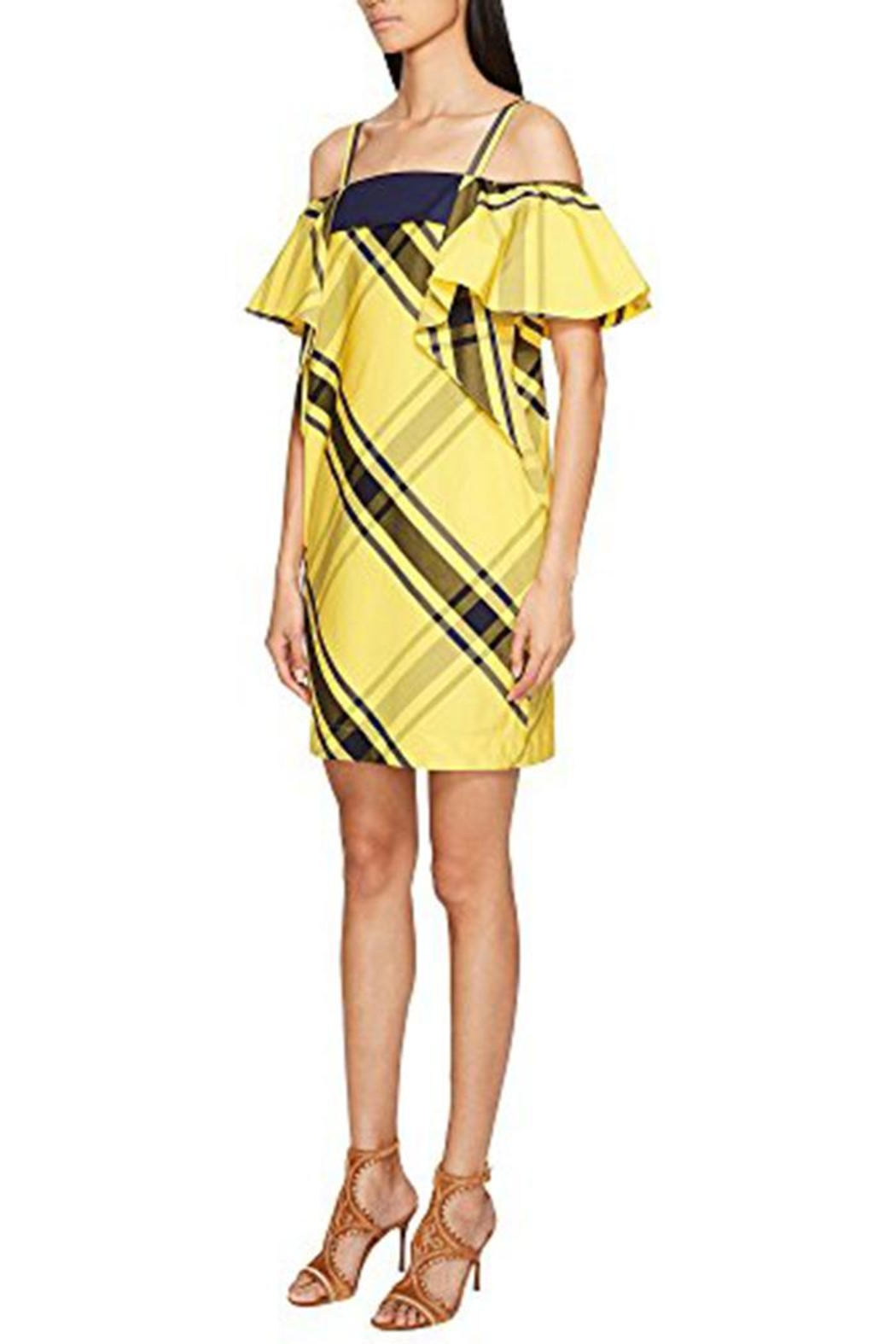Sportmax Navata Yellow Dress - Side Cropped Image