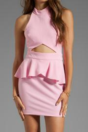 Naven Cut-Out Peplum Dress - Front cropped