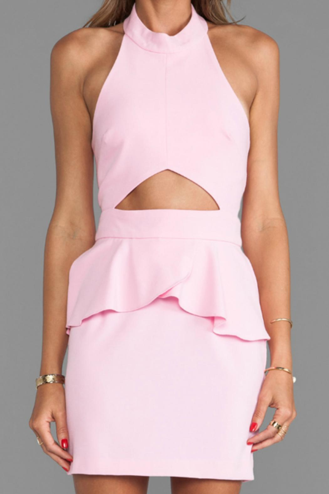 Naven Cut-Out Peplum Dress - Back Cropped Image