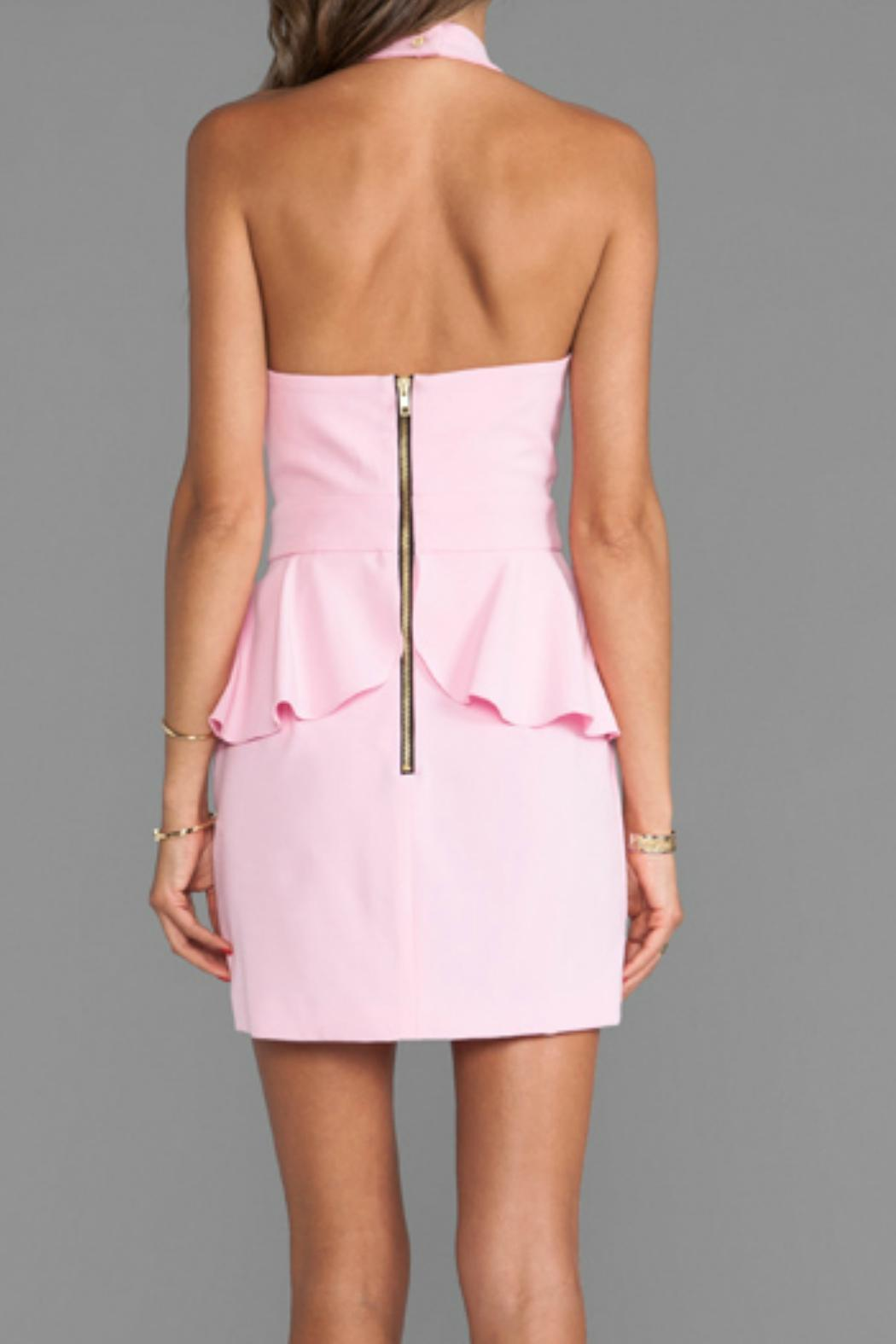 Naven Cut-Out Peplum Dress - Front Full Image