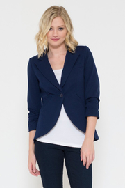 Esley Navy 3/4 Sleeve Blazer - Product Mini Image