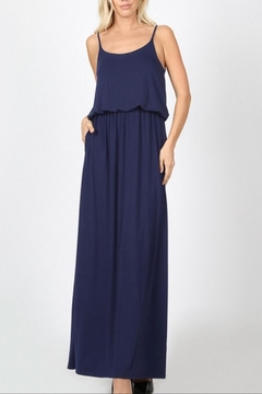 Zenana Outfitters Navy Adjustable-Strap Maxi - Alternate List Image
