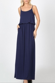 Zenana Outfitters Navy Adjustable-Strap Maxi - Product Mini Image