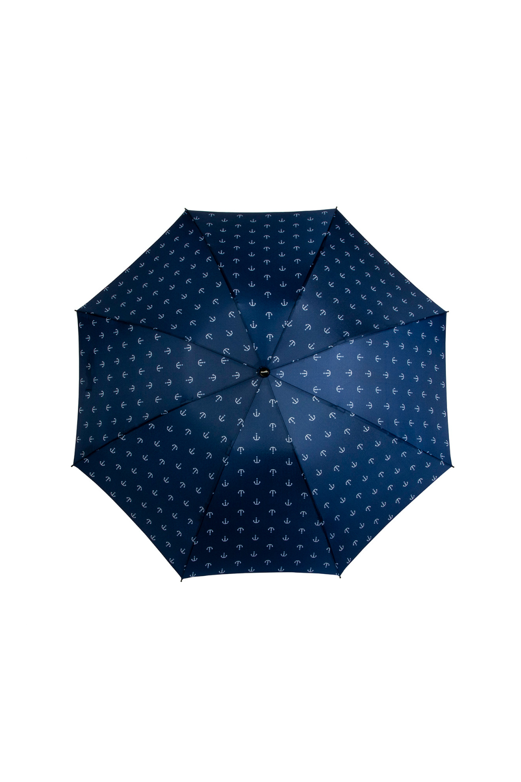 SHED RAIN NAVY ANCHOR REVERSIBLE UMBRELLA - Back Cropped Image