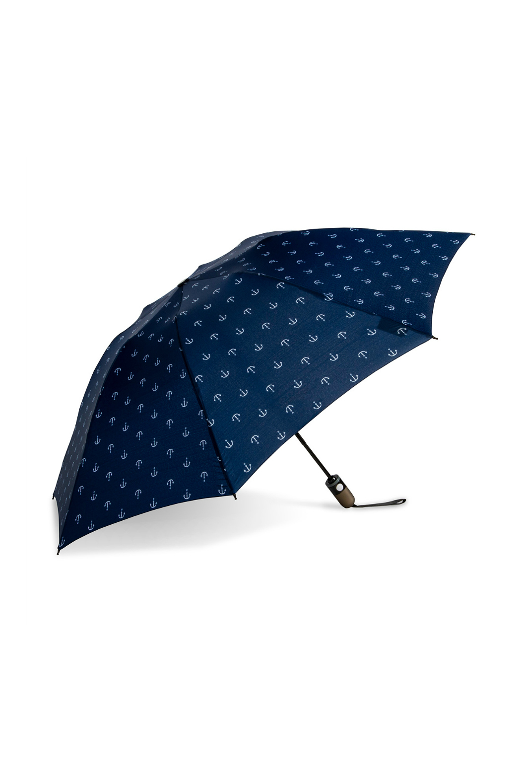SHED RAIN NAVY ANCHOR REVERSIBLE UMBRELLA - Front Cropped Image