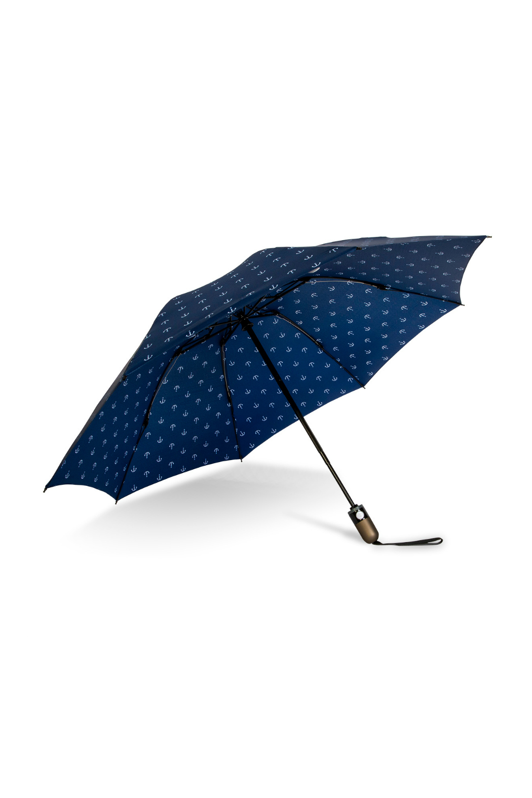 SHED RAIN NAVY ANCHOR REVERSIBLE UMBRELLA - Side Cropped Image