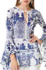 Alberto Makali Navy and White Blouse - Product Mini Image