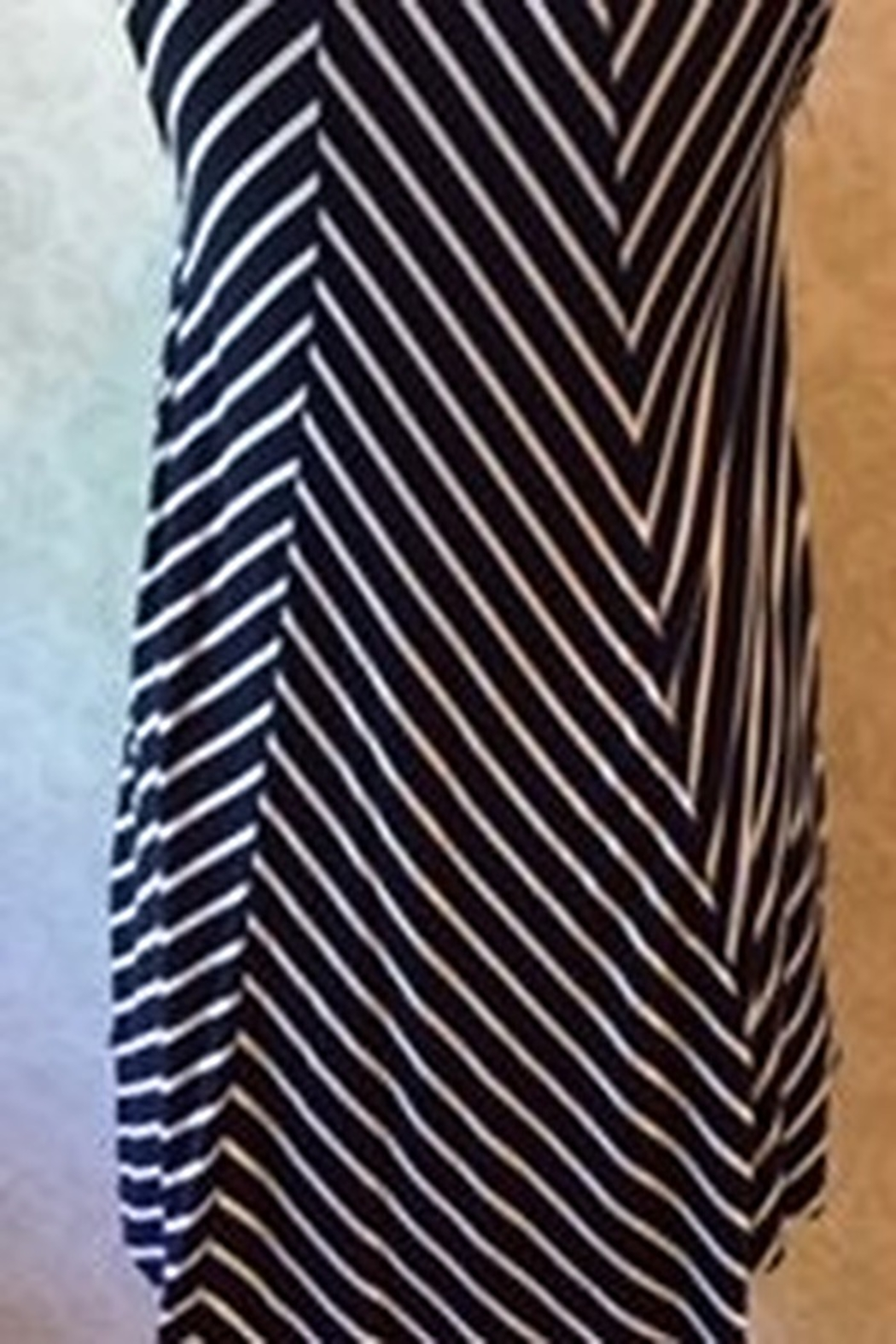 ellumiNation Navy and white striped tunic top - Front Full Image