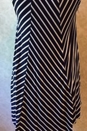 ellumiNation Navy and white striped tunic top - Front full body
