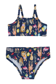 Quimby Navy Animal 2 Piece Bathing Suit - Product Mini Image