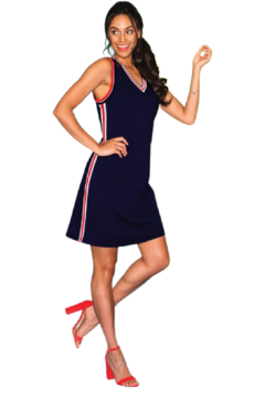Elena Wang  Navy Athleisure Wear Dress - Product List Image