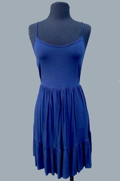 Minx Navy Babydoll Dress - Product List Image