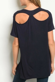 LoveRiche Navy Back Tee - Product Mini Image