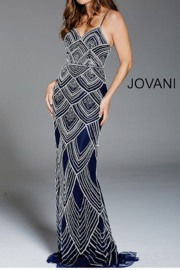 Jovani PROM Navy Beaded Gown - Product Mini Image