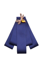 Madison Avenue Accessories Navy Bee Broach - Product Mini Image