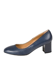 Lady Doc Navy Block-Heel Court - Product Mini Image