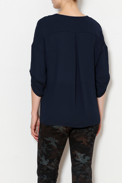 Bali Navy Blouse with Peal Details - Alternate List Image