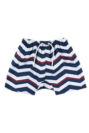 Archimede Navy-Blue 'Boris' Swimshorts - Front cropped