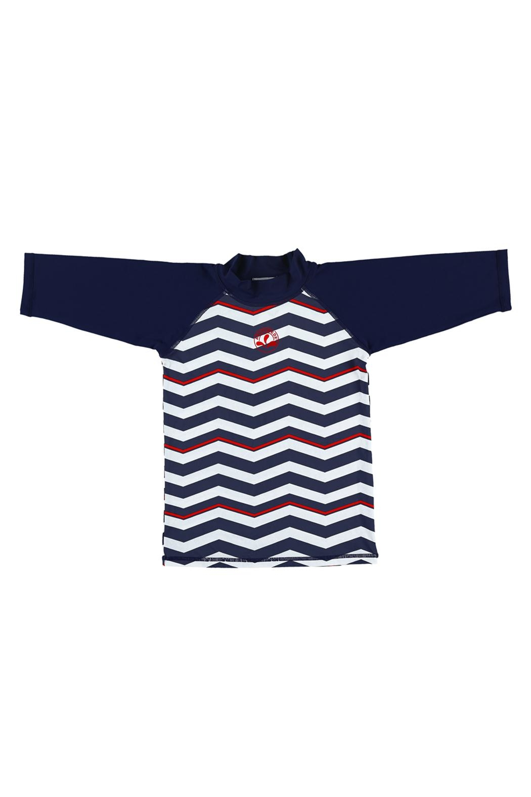 Archimede Navy-Blue 'Boris' Top - Front Cropped Image