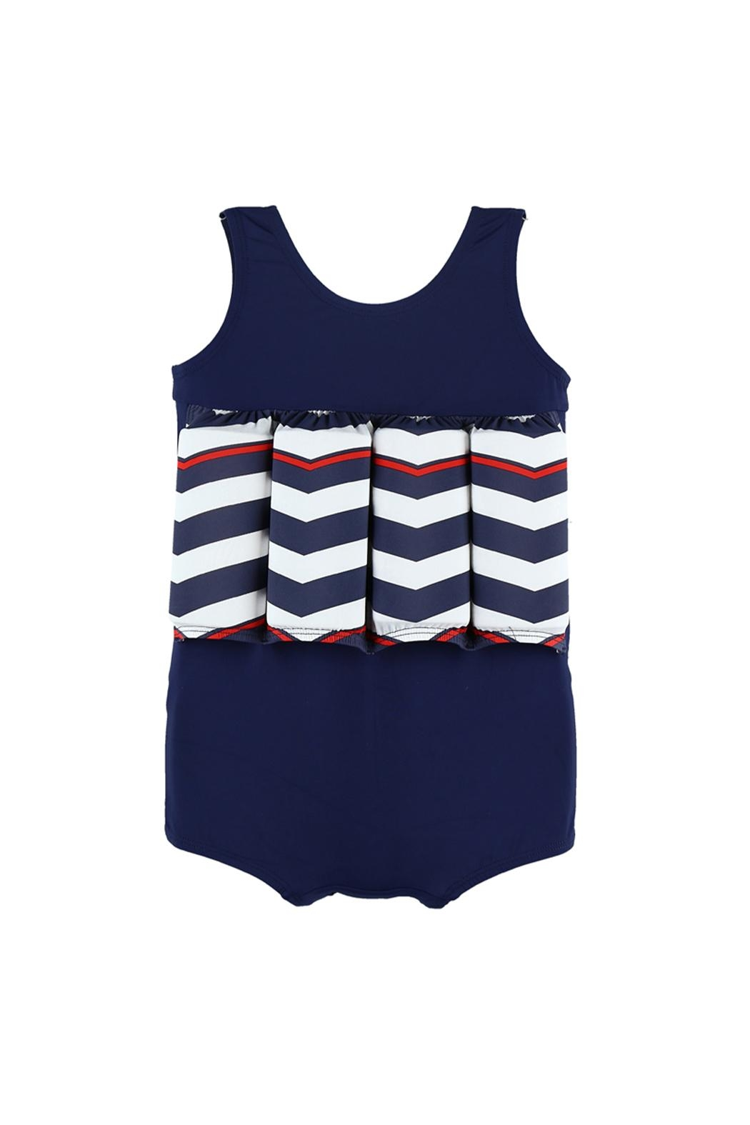 Archimede Navy-Blue Floatation Swimsuit - Front Cropped Image