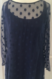 Staples Navy blue polka dot two-piece tunic top - Product Mini Image