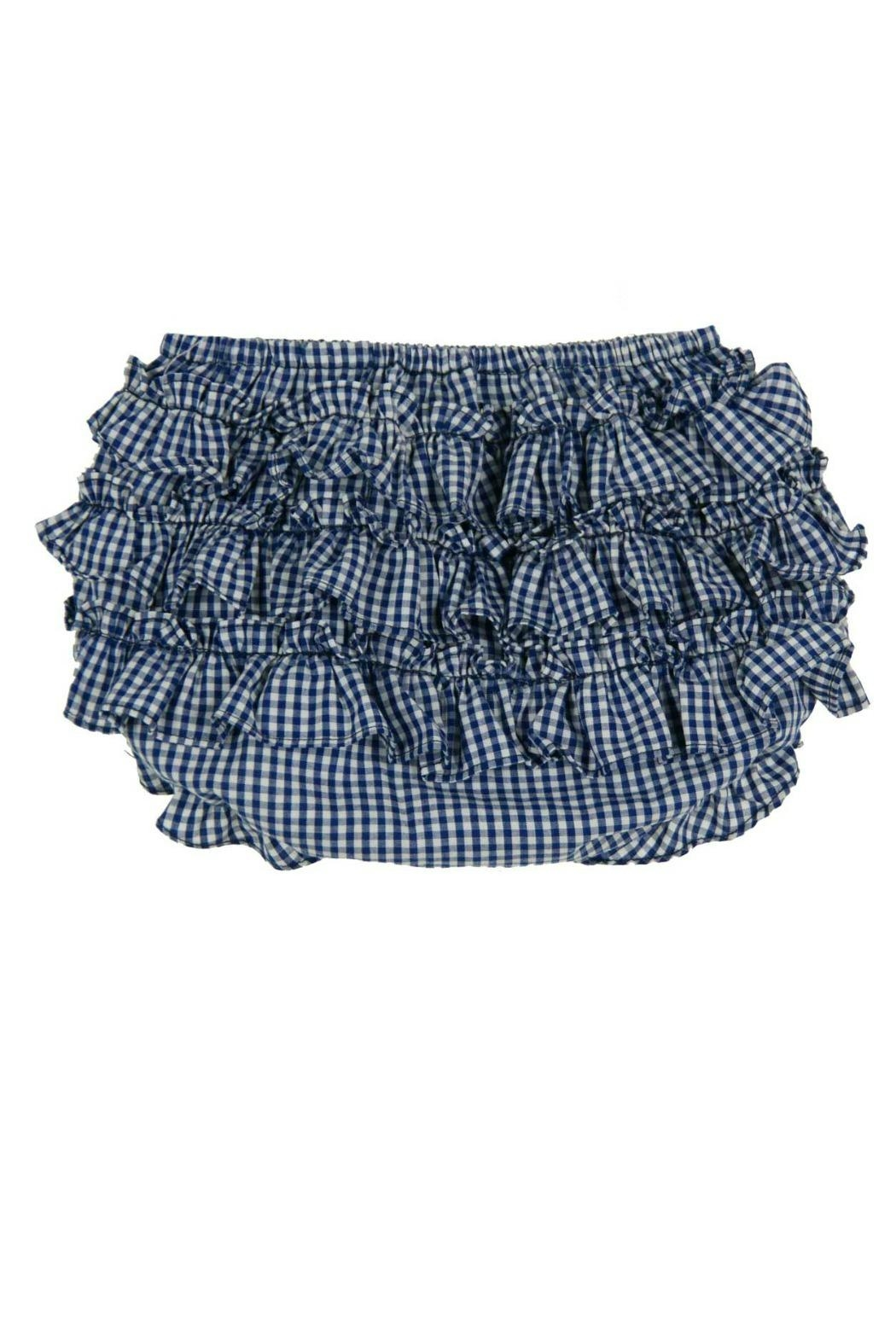 Rosalina Navy-Blue-Ruffled Diaper Cover - Front Cropped Image